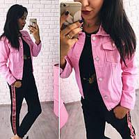 Джинсовка пиджак укороченный4 цвета.