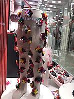 Детские колготки с нашитыми цветами из ткани
