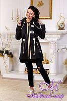 Женская стильная осенняя куртка (р. 44-54) арт. 1021 Тон 21