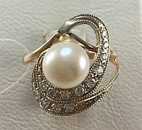 Кольцо с жемчугом золотое 585 проба