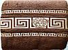 Простыня махровая 200*220 хлопок коричневая