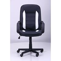 Кресло Дрифт (1699) к/з PU черный/белые вставки (AMF-ТМ)