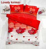 Полуторный постельный комплект Altinbasak Lovely red