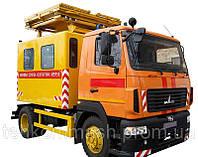 Машина аварийная для ремонта контактных сетей на МАЗ