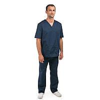 Медицинский костюм Гранит  синий