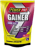 Gainer Amino+BCAA гейнер банан 1кг Power Pro