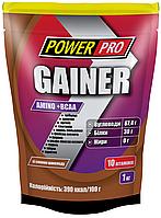 Gainer Amino+BCAA гейнер шоколад 1кг Power Pro