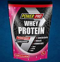 WHEY PROTEIN сывороточный протеин клубника 1кг Power Pro