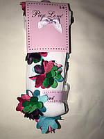 Детские колготки с нашитыми цветами