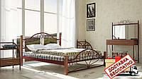Кровать металлическая кованная Джоконда на деревянных ножках полуторная, фото 1