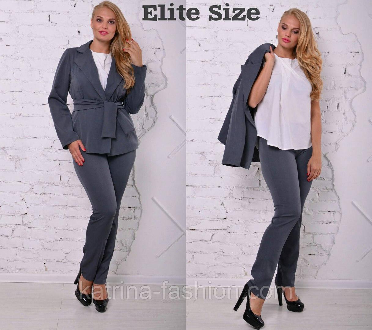 25b80ad1e8d Женский деловой классический костюм-тройка больших размеров  жакет ...