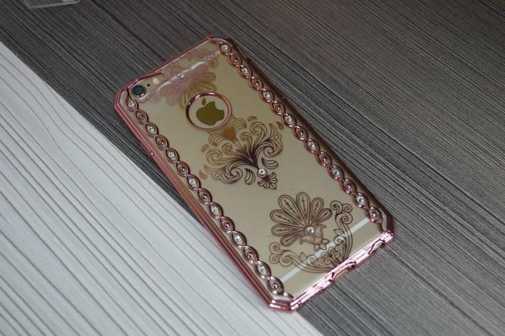 Чехол для iPhone 6  мягкий материал (розовое золото), фото 2