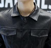 Мужская кожаная куртка. Модель 61130, фото 8