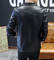Мужская кожаная куртка. Модель 61130, фото 3