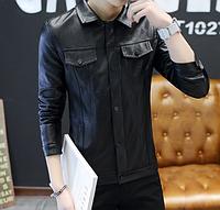 Мужская кожаная куртка. Модель 61130, фото 2