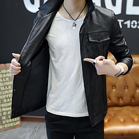 Мужская кожаная куртка. Модель 61130, фото 5
