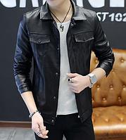Мужская кожаная куртка. Модель 61130, фото 6
