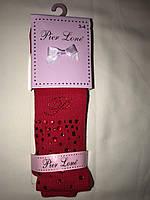 """Детские колготки """"Pier Lone"""" на 3-4 года с красными стразами"""