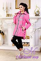 Женская осенняя куртка с удлиненной спиной (р. 44-54) арт. 1021 Тон 38
