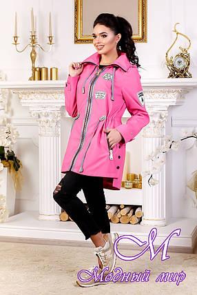 Женская осенняя куртка с удлиненной спиной (р. 44-54) арт. 1021 Тон 38, фото 2