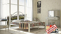 Кровать металлическая кованная на деревянных ножках Диана двуспальная, фото 1
