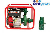 Мотопомпа бензиновая WEIMA WMQBL65-55 (высоконапорная для капельного полива, 60 м.куб/час)