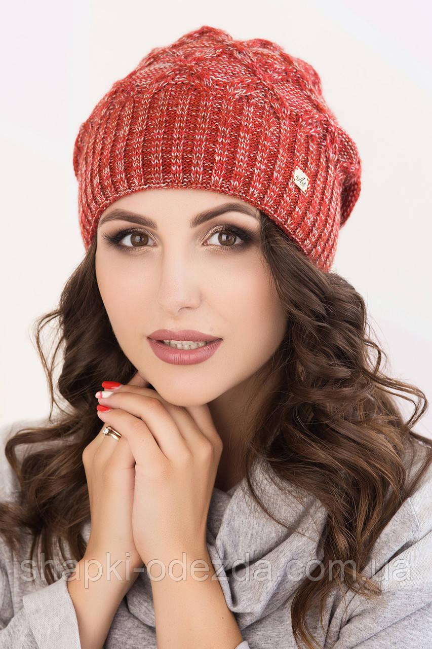 молодежная вязаная шапка для девочки николь меланж продажа цена