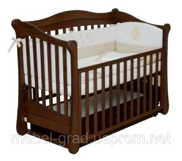 Кроватка для новорожденных Соня ЛД 18 Верес орех