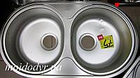 Мойка кухонная из нержавеющей стали  Teka  DR-78 2C MTX (трансп. дефект)