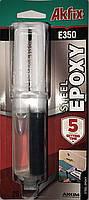 Эпоксидный клей Akfix E350 для стали (шприц)