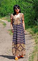 Макси платье из натурального шелка с кружевом ручной работы (№40)
