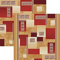 Ковролин красные квадраты 2,5м