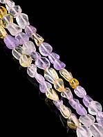 043458 Бусины Аметрин 40 см. (Без замка)  фурнитура для рукоделия из натуральных камней
