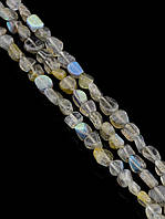 043462 Бусины Лабрадор 40 см. (Без замка)  фурнитура для рукоделия из натуральных камней