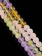 043473 Бусины Цитрин 40 см. (Без замка)  фурнитура для рукоделия из натуральных камней