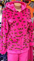 Яркая махровая пижама леопард