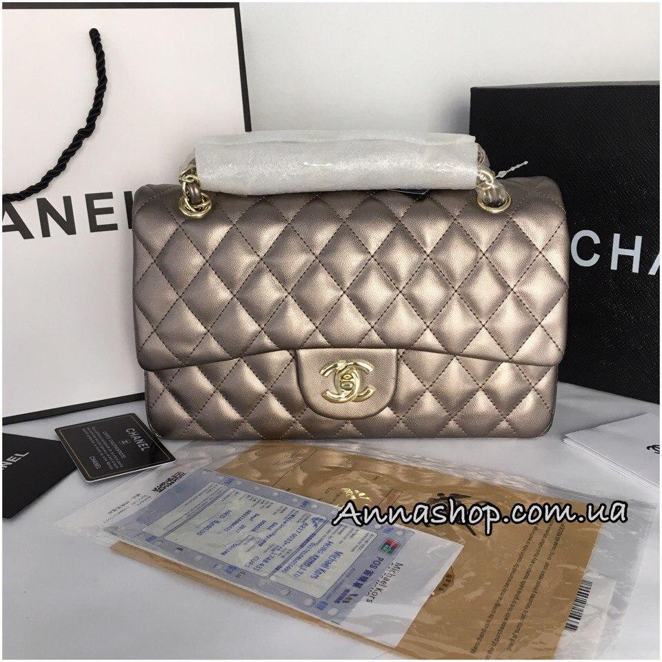 Сумка, клатч Шанель 2.55 средний в бронзовом цвете  продажа, цена в ... 6d03279c7c4