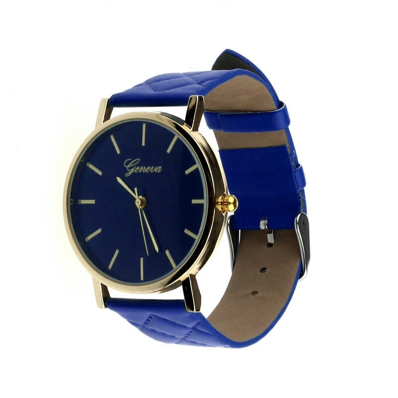 Часы женские наручные кварцевые Geneva с кожаным браслетом - Фарбия - колор-студия, СПД Розенталь А. А. в Кривом Роге