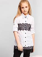 Школьная блуза U1022-2K для девочки (Размер: 34-40, школьная форма, кофточка, блузка) ТМ ОКП Белый