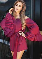 """Летний женский комбинезон-шорты """"Daman"""" с расклешенными рукавами (5 цветов)"""