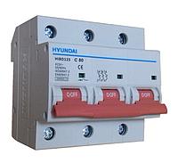 Автоматический выключатель Hyundai Hibd125 80A, 3P, C 10КА