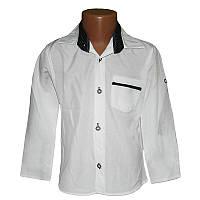 Белая рубашка для мальчика  5-8лет (110-128) арт.0255
