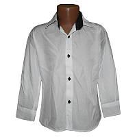 Белая рубашка для мальчика 9-12лет (134-152) арт.0360