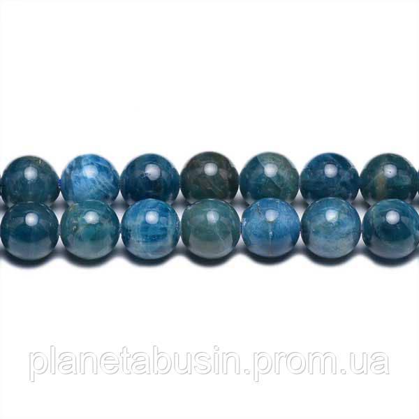 8 мм Апатит А, CN291, Натуральный камень, Форма: Шар, Отверстие: 1мм, кол-во: 47-48 шт/нить