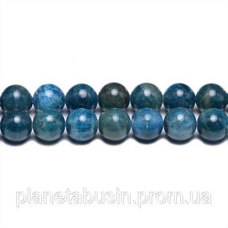 8 мм Апатит А, CN291, Натуральный камень, Форма: Шар, Отверстие: 1мм, кол-во: 47-48 шт/нить, фото 2