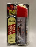 Silver Premium Водоотталкивающий Спрей  200мл  + губка для обуви бесцветная в подарок