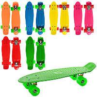 Скейт детский пенни борд 55 х 14,5 см, алюминиевая подвеска, колеса пу, Penny board, Profi MS 0848