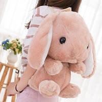 Большой плюшевый рюкзак кролик, цвета в наличии