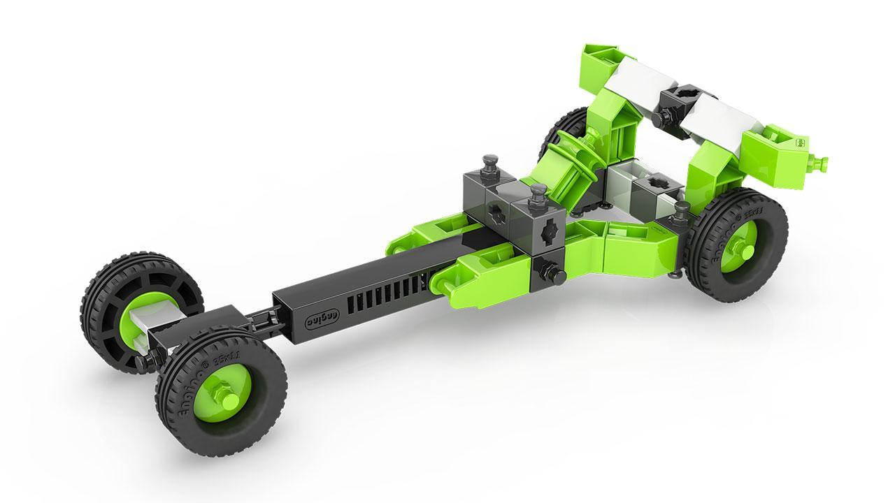 Конструктор серии STEM HEROES - Спортивные автомобили: драгстер SH32