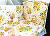 Постельное белье в детскую кроватку Желтые мишки и пчелки